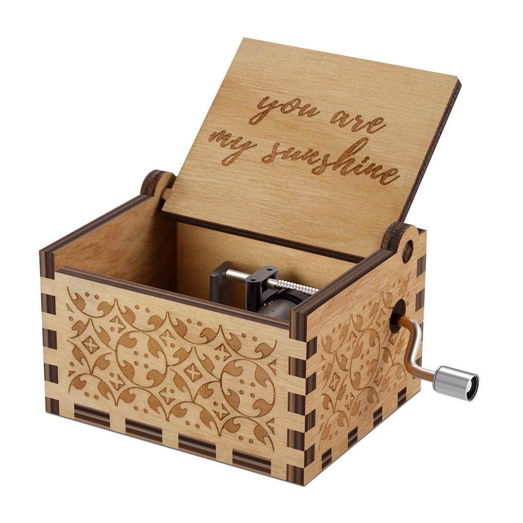 fnemo Kreative Holz Hand schütteln Spieluhr Geburtstagsgeschenk Home Decoration Musikwürfel