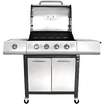 Generic NV_1001006304-LM-52-EUR*** 1**6304** Barbacoa de Acero Prem Premium Gas BBQ 5 Burne 5 Burner BBQ St Wheels Aut Aut con Ruedas con Cerradura para ...