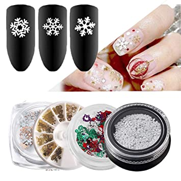 Ultrathin Nail Sequins Glitter Flakes Paillettes Snowflake Christmas Art Decor