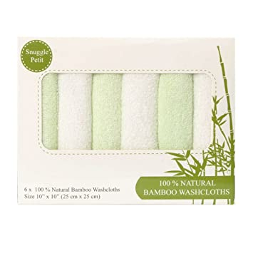 Hypoallergenic And Antibacterial For Sensitive Skin For Boys And Girls Premium Bamboo Washcloths Set Of 6//100/% Organic Bamboo Baby Towels For New Borns And Toddlers Soft And Absorbent