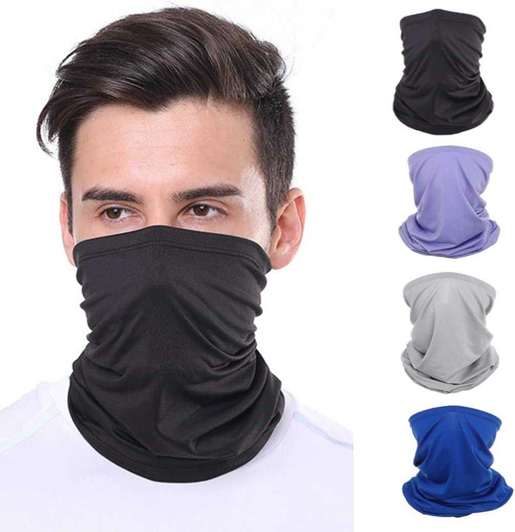 Sethain Neck Gaiter Bandana Pure Helmet Face Mask Multifunctional Balaclavas Running Neck Tube Headwear UV Protection Face Scarf