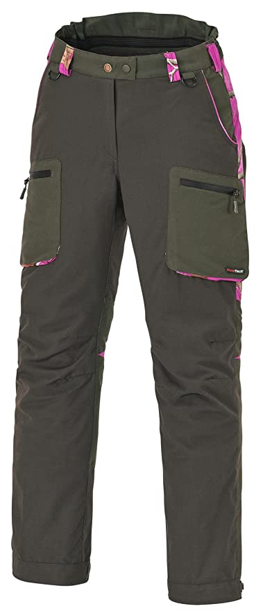 Pinewood Wolf Ladies Caza Pantalón Moss Green, Moosgrün/Realtree Ap Pink HD®