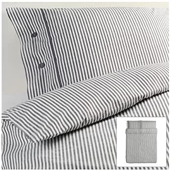 ikea nyponros duvet cover and pillowcases fullqueen gray