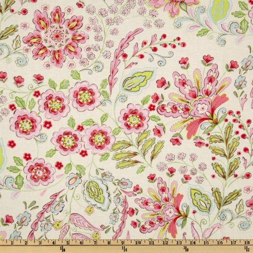 FreeSpirit Fabrics Pretty Little Things Emma Floral Cream Fabric by The Yard,