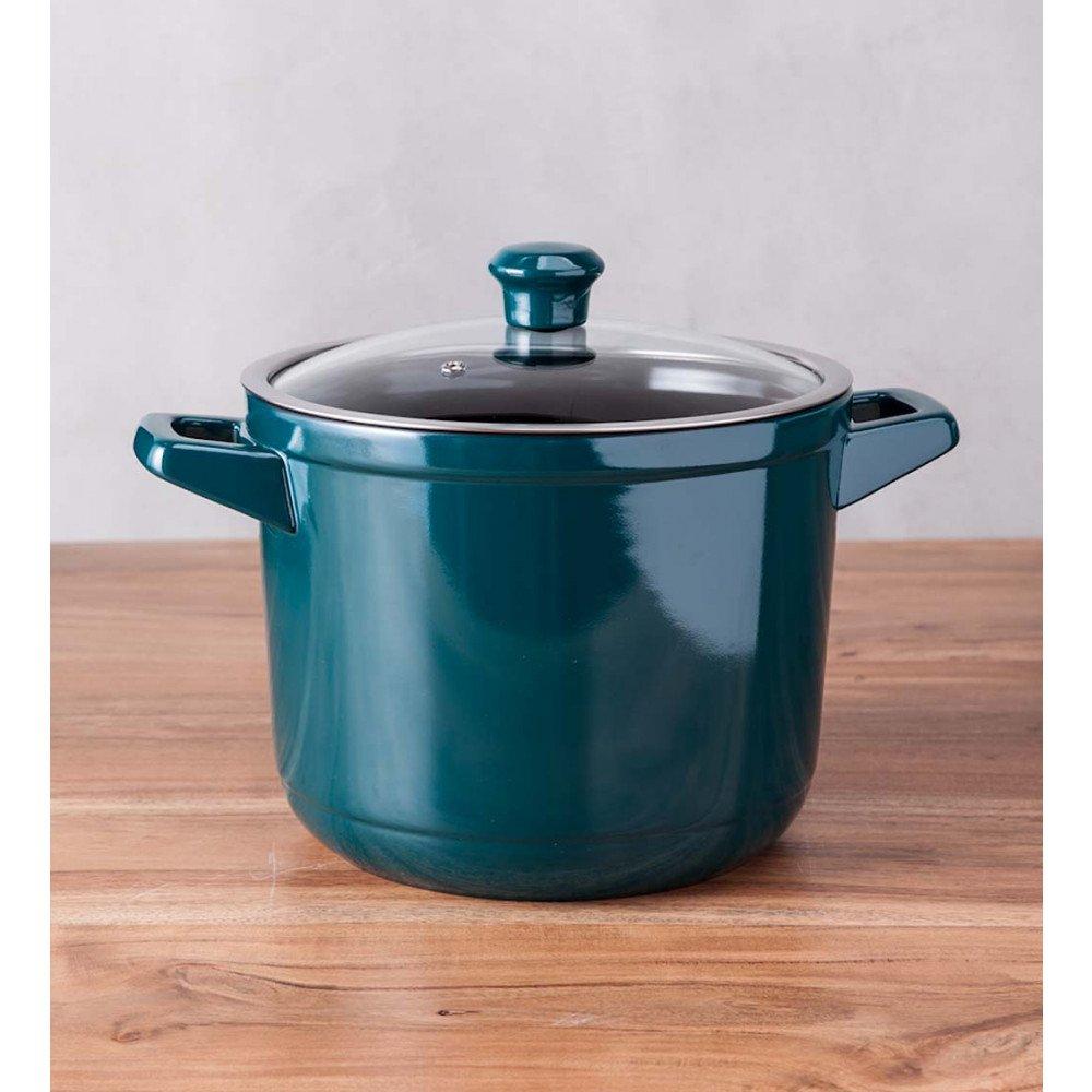 Ceraflameセラミック7.4 Quart Pot with Lid – ティール   B07F47GMPS