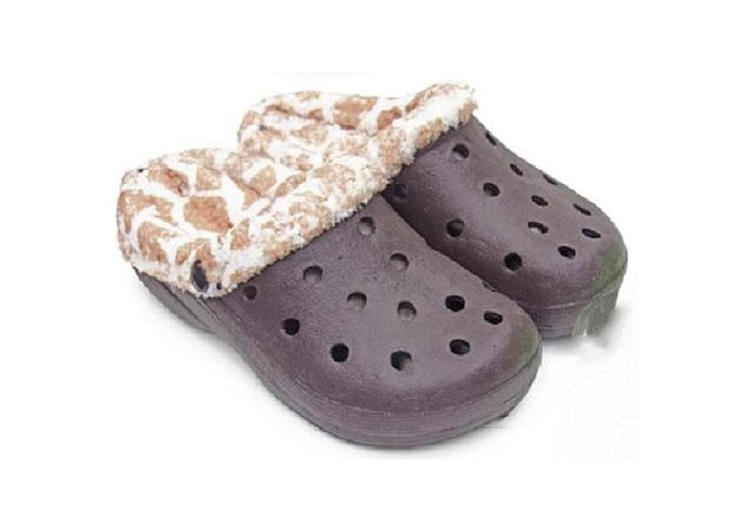 DINY Home & Style Fleece Lined Children's Indoor Outdoor Fluffy Clogs Slippers