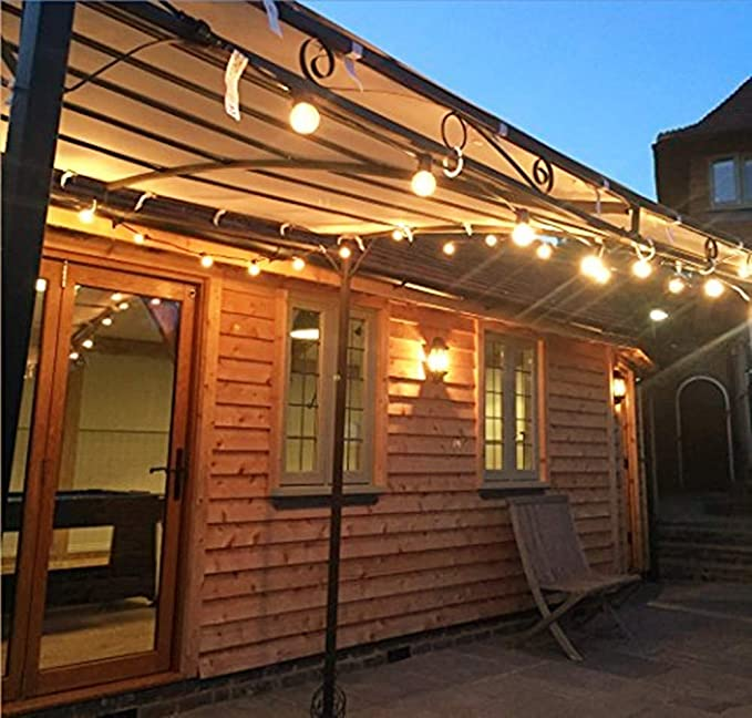 ELINKUME 5M Luces LED de hadas con 20 bombillas, bombillas de luz de interior/exterior impermeables IP44 Luces de hadas Decoración para habitación, bar, jardín, balcón, fiesta (blanco cálido): Amazon.es: Iluminación