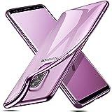ESR Cover per Samsung Galaxy S9 Plus [Supporta la Ricarica Wireless], Custodia Trasparente Morbida di TPU [Ultra Leggere e Chiaro] con Paraurti Placcati per Samsung Galaxy S9 Plus (Lilla Viola).