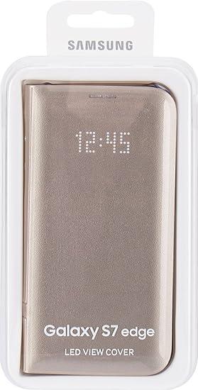 Samsung Led View Cover - Funda para Samsung Galaxy S7 Edge, color dorado: Amazon.es: Electrónica