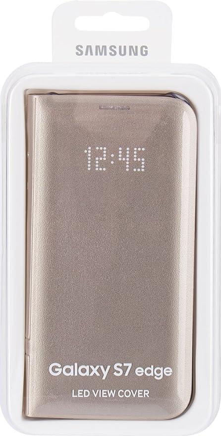 Samsung LED View Cover - Funda Galaxy S7 Edge, Color Dorado ...