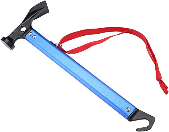 1Camping Tent Peg Nail Stakes Extractor Puller Ground Hook Lifter Remover Hammer
