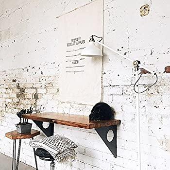 """Industrial Rustic Wall-mounted Table, Dining Table Desk, Pine wood Wall-Mounted Bar Tables (40""""X14"""")"""