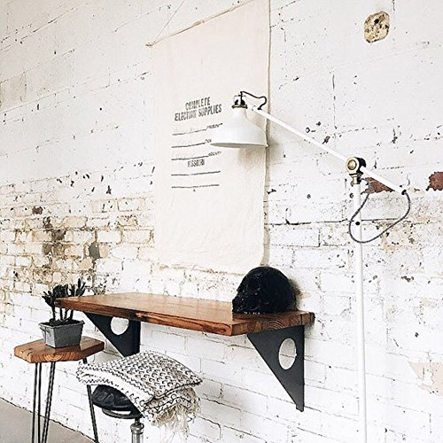 Long Bar Table - Industrial Rustic Wall-mounted Table, Dining Table Desk, Pine wood Wall-Mounted Bar Tables (47