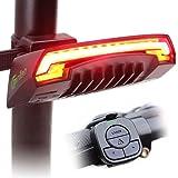 Meilan X5 - Luz trasera inteligente, USB recargable, control remoto inalámbrico, luces láser, para mototocicleta, bicicleta B