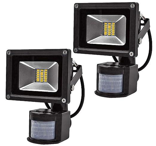Leetop 2X SMD 20W luz de Inundación del LED Caliente Reflector Impermeable Blanco con Sensor de