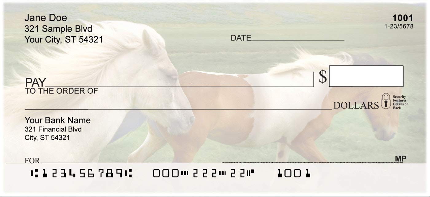 Horse Top Tear Personal Checks Extra Value Checks