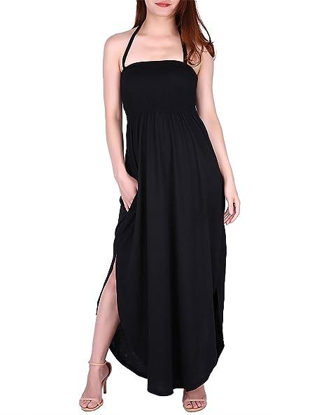 Black Tube Top Plus Size Maxi Dresses