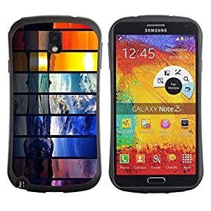 Hybrid Anti-Shock Bumper Case for Samsung Galaxy Note 3 / Different Seasons