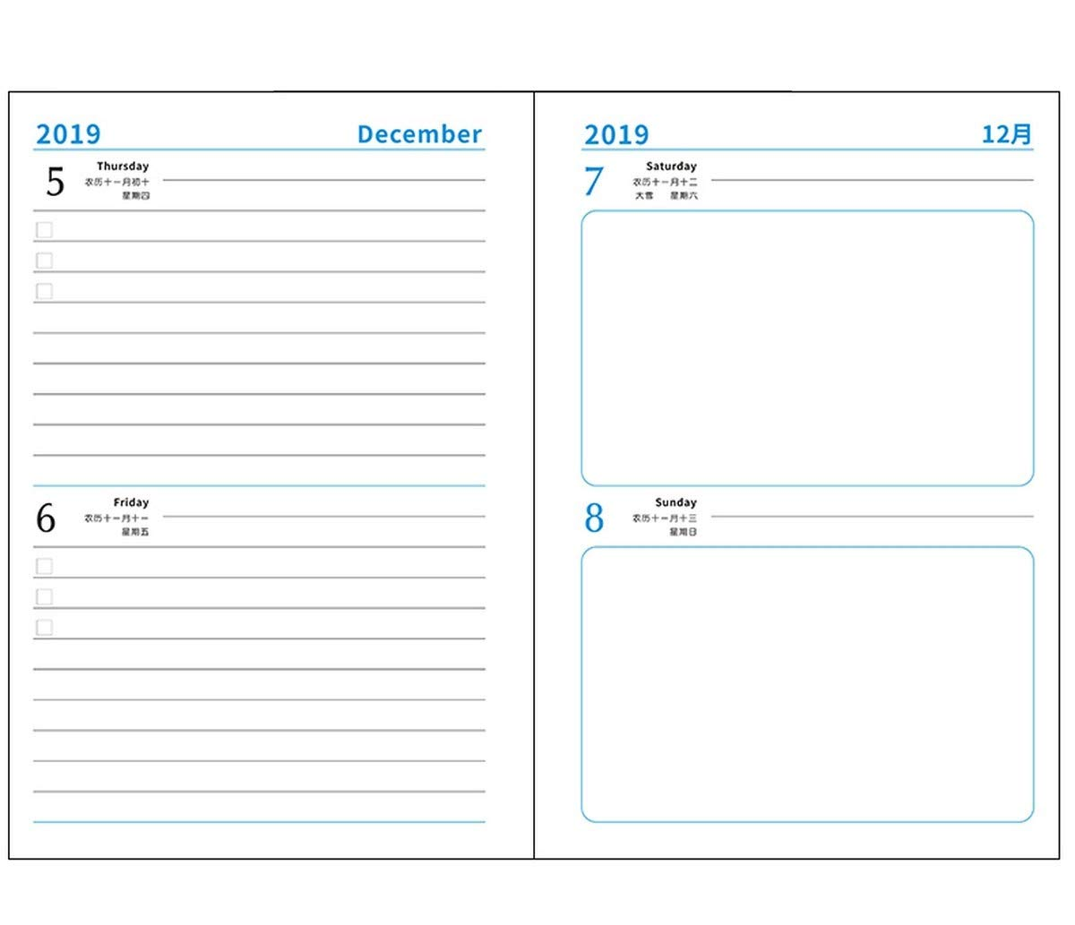 NTCY Cuaderno 2019 Eficiencia Manual De Trabajo Horario Oficina Cuaderno Cuaderno Papelería Oficina Horario De Negocios Papelería Caja De Regalo Cuaderno,Verde 42bd27