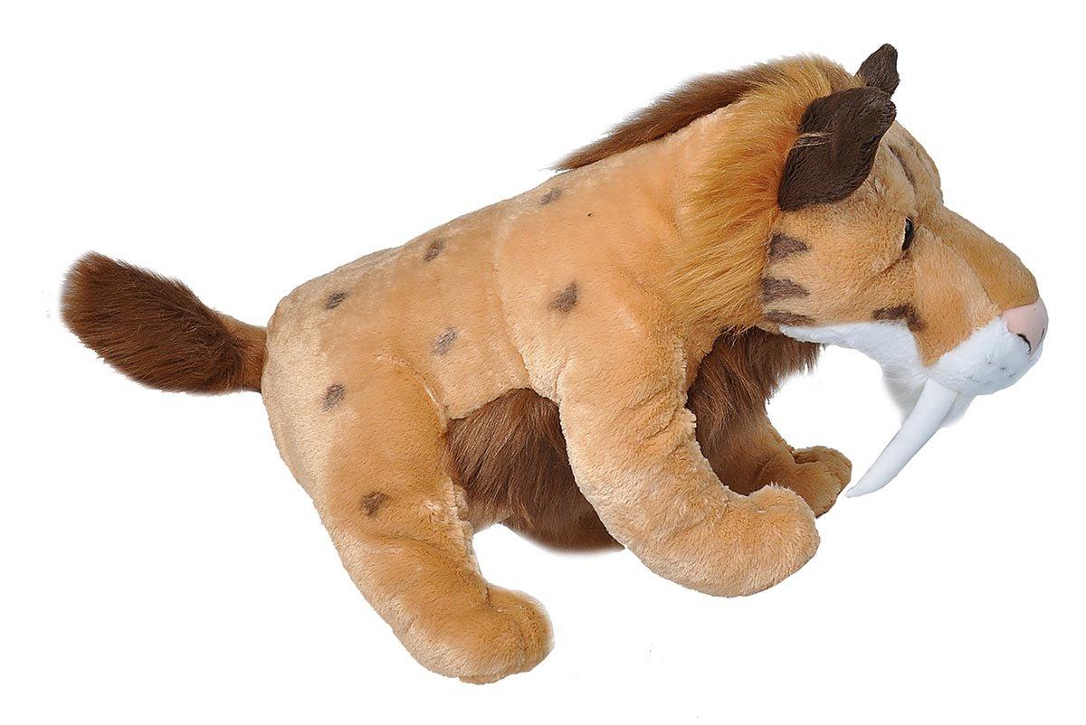 Wild Republic Jumbo Smilodon Plush, Giant Stuffed Animal, Plush Toy, Gifts For Kids, 30''