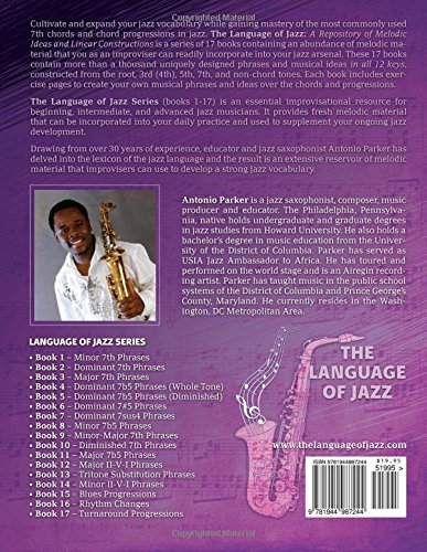 The Language Of Jazz - Book 8 Minor 7b5 Phrases (New Edition): Minor 7b5 Phrases (The Language of Jazz Series) (Volume 8) by Jazzology Publications, LLC