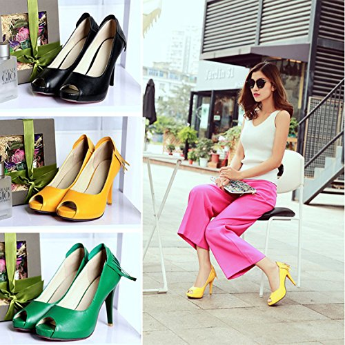 Meijia - Zapatos con tacón mujer Verde