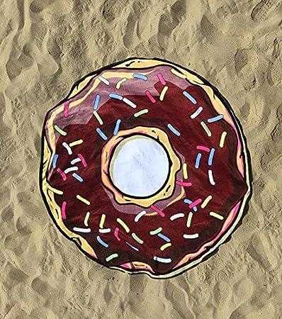 Piscina circular y toalla de playa Giant Donut - Diseños surtidos: Amazon.es: Hogar