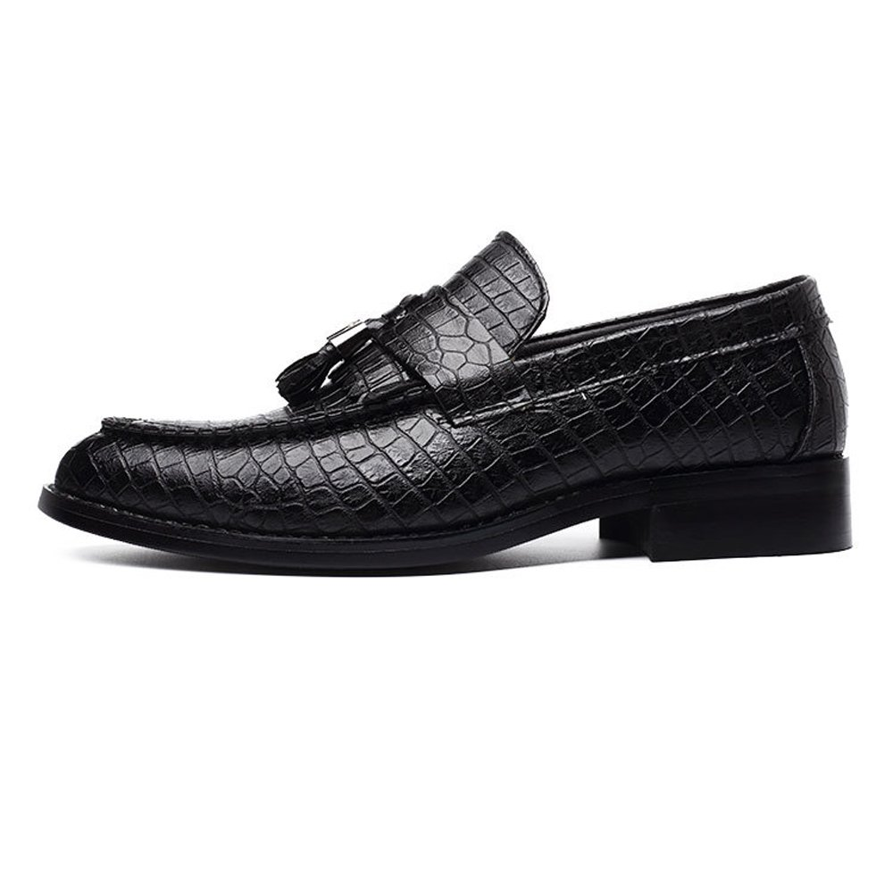 GBY Herren PU Leder Schuhe Snake Skin Texture Obermaterial Slipper Slipper Slipper Slip-On Atmungsaktiv Niedrig Top Gefüttert Oxfords Atmungsaktiv  14a5e8