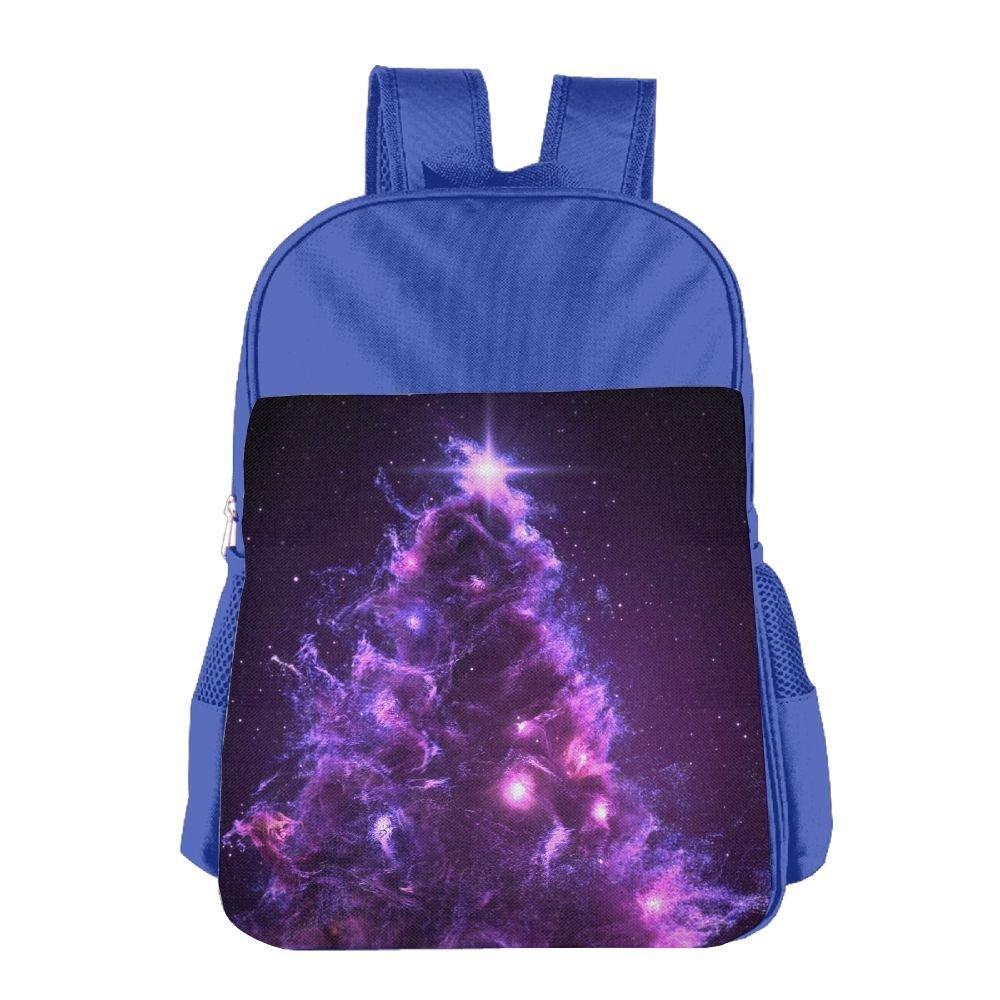 3D クリスマス ツリー 星雲 空間 キッズ バックパック 男の子 女の子用 通学用バックパック B07FDH6D83