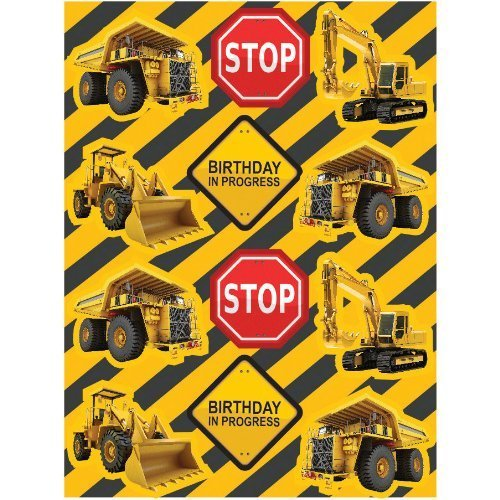Construction Trucks Stickers - Construction Zone Sticker Party Favors (8 Sheets)