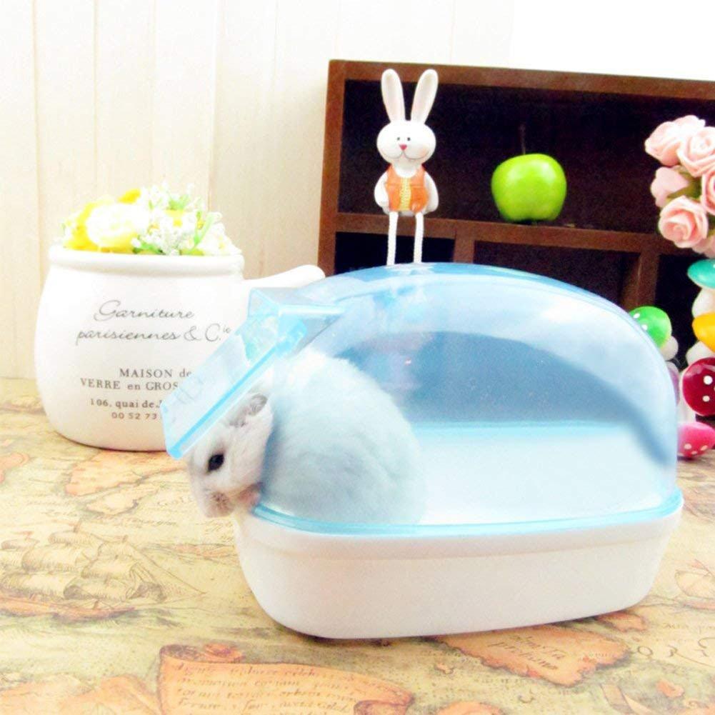 LanLan Kleines Haustier Hamster Badezimmer Staubdichtes Plastik nettes kleines Haustier Hamster Badezimmer Sauna Badewanne, die Kasten spielt pink