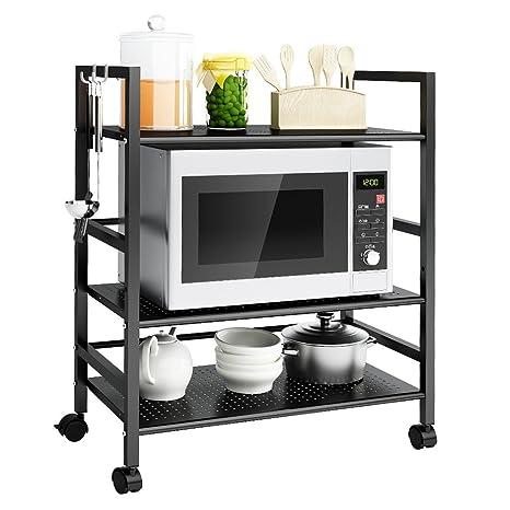 langria carrello da cucina 3 livello all purpose scaffalatura multifunzione scaffale rete metallica contenitorirobusto