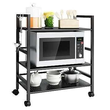 Amazon.de: LANGRIA Küchenwagen Küche Roll Regale Allzweckwagen, 3 ...