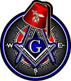 ProSticker 118V (One) Masonic Series Shriner Fez