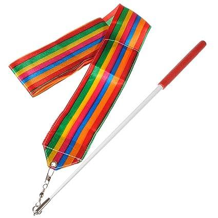 BeautyMall-4 Mètres Rubans + 1 Pcs Bâton Pour Gymnastique Rythmique Danse  Ribbon Gym Fille Art Sport Multicolore  Amazon.fr  High-tech dd226f5ea8d