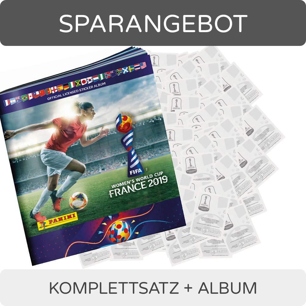 50 Tüten Panini Frauen WM 2019 Sammelsticker 1 Display