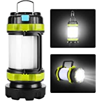 Camping Lantern Rechargeable, Camping Light for Tents, LED Lantern Camping 6 Light Modes, 4000mAh High Capacity Power…