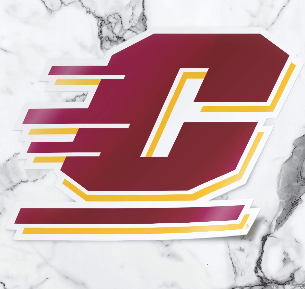 Nudge Printing Central Michigan University Chippewas Full Color Action C Car Decal Bumper Window Sticker Laptop Sticker