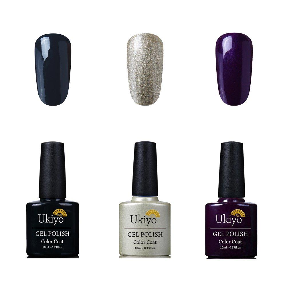 Ukiyo 4PCS imbibe Gel vernis semi permanent soak off UV LED couleur de vernis à ongles nus ongles semi-permanent 8ml polish
