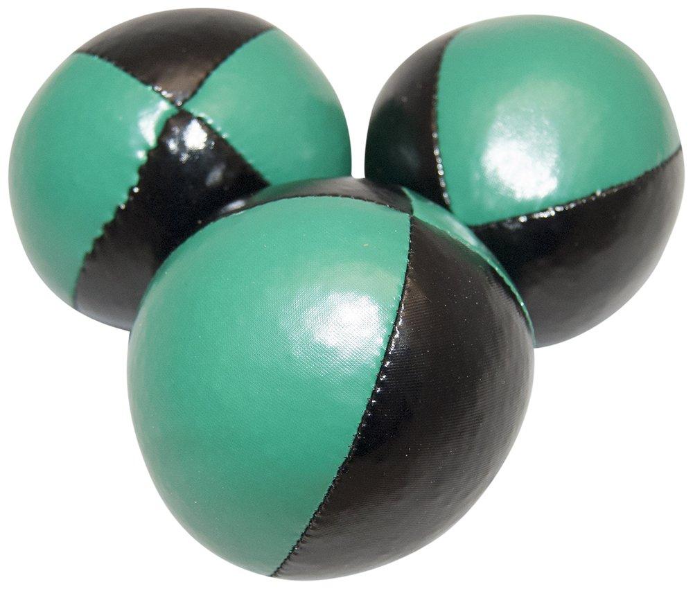 Juggling Balls Set of 3 Professional Style (black/green)