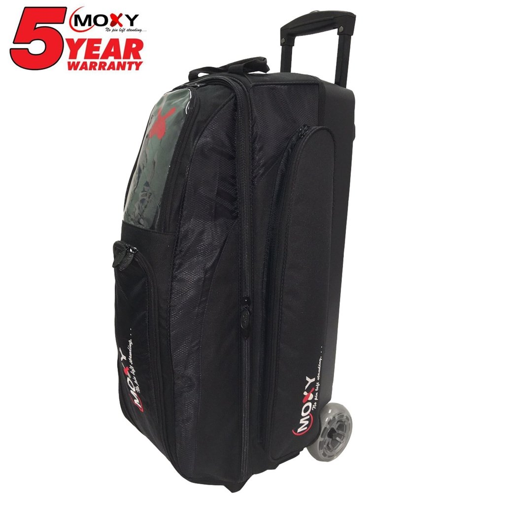 Moxy Bowling Products Blade Triple Roller Bowling Bag- Black