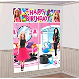 Barbie Sparkle Kids Party Scene Setter Wall Decorations Kit - Kids Birthday and Party Supplies Decoration