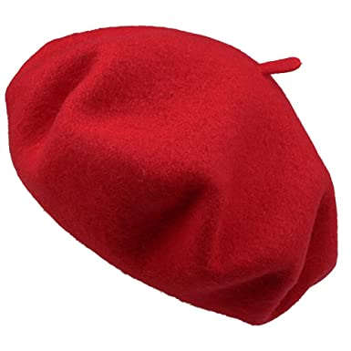 9bdb6def203fd Womens Beret Hat - Ladies Classic French Style Solid 100% Wool Winter Hat   Amazon.co.uk  Clothing