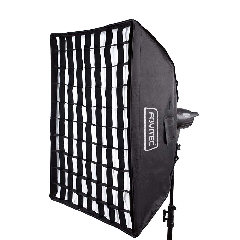 Fovitec - 24''x32'' Rectangle Softbox with Grid & Bowens Speedring for Photo & Video by Fovitec