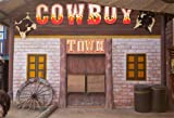 OFILA Cowboy Town Backdrop 8x6ft Western Barn