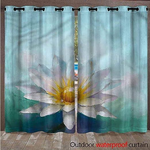 AndyTours - Cortina de Patio para Exteriores, Resistente, a Prueba de Agua y Viento, Cortinas Opacas para el Patio, Sombra Exterior para Porche, Granja, pergola, Cabana, 2 Paneles: Amazon.es: Jardín