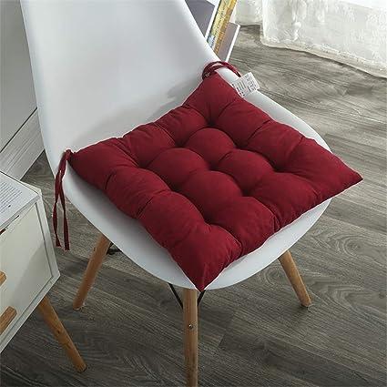 Tatami Stuhlauflage 40x40 mit rotem Rand