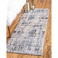 Modern Abstract 2 feet by 6 feet (2 x 6) Runner Downtown Collection by Jill Zarin Multi Contemporary Area Rug