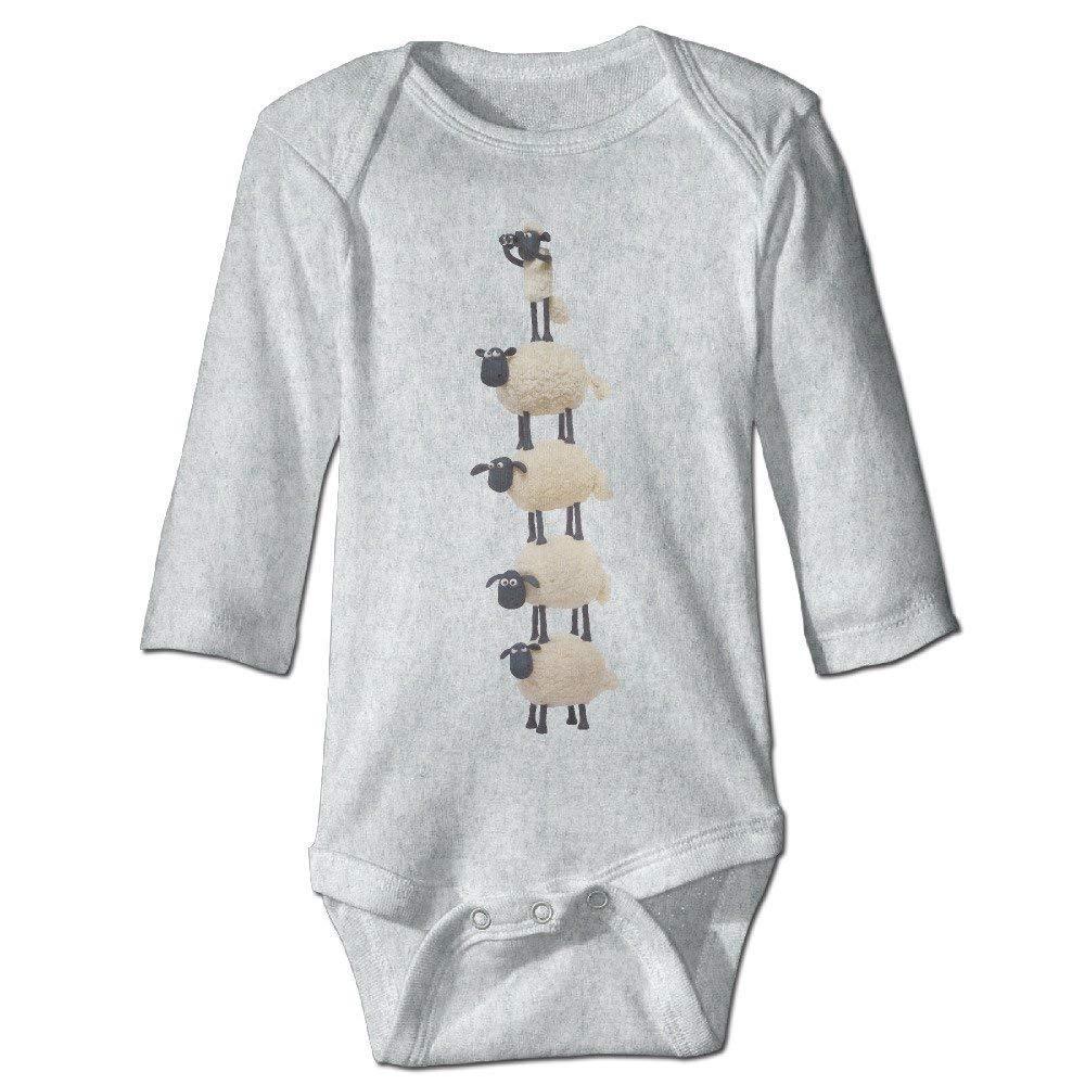 DJTB32rty Baby Kids 100/% Cotton Long Sleeve Onesies Toddler Bodysuit Shaun The Sheep Climbing Clothes