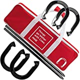 Deluxe Professional Coca Cola Horseshoe Set - Includes 4 Horsehoes, 2 Poles, and Carrying Case